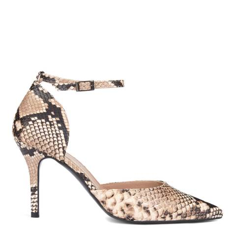 Mint Velvet Imogen Snake Print Court Shoes