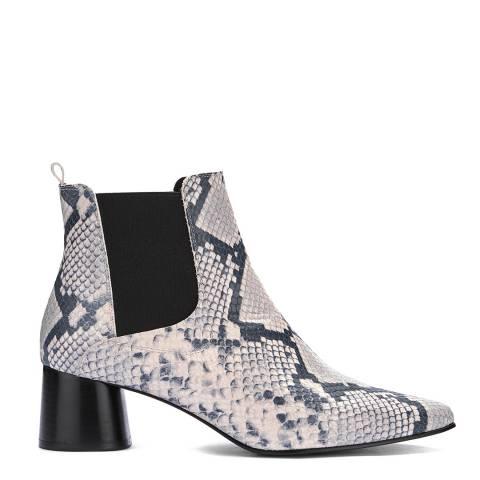 Mint Velvet Maya Snake Block Heel Boots