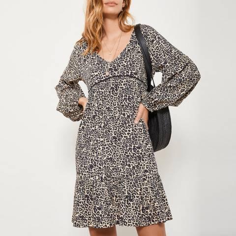 Mint Velvet Philippa Leopard Smock Dress