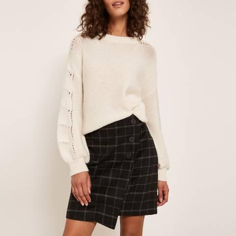 Mint Velvet Black Check Mini Skirt