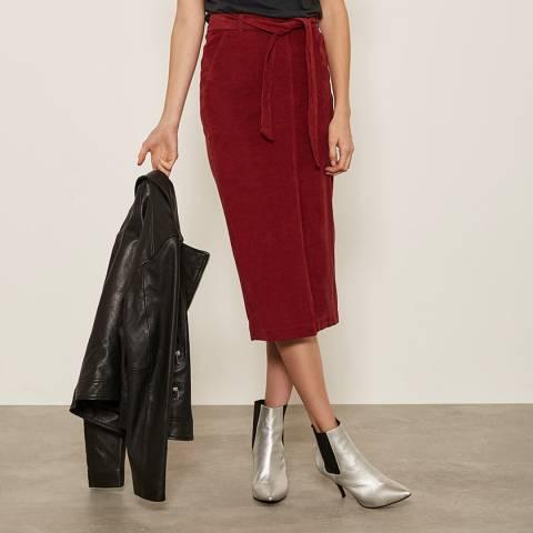 Mint Velvet Cherry Belted Cord Skirt