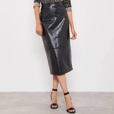 Mint Velvet Croc Faux Leather Pencil Skirt