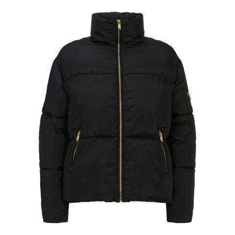 Mint Velvet Black Short Padded Coat