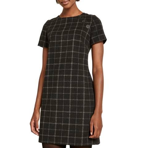 Mint Velvet Charcoal Check Shift Dress