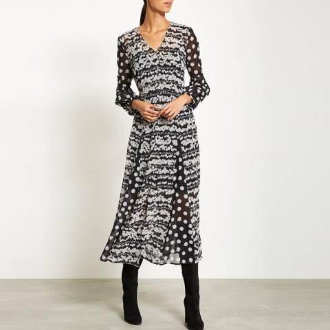 Mint Velvet Alicia Print Spot Midi Dress