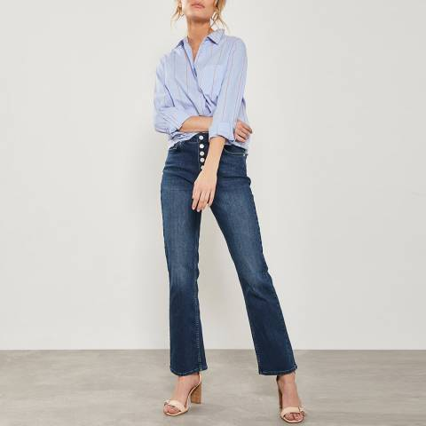 Mint Velvet Nevada Indigo Button Fly Jeans