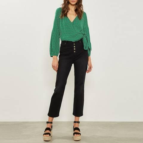 Mint Velvet Nevada Black Button Fly Jeans