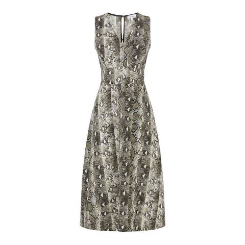 Warehouse Grey Pattern Snake Dress