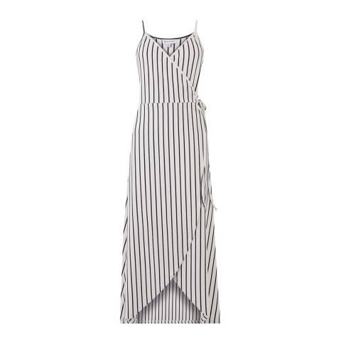 Warehouse Blue Stripe Stripe Cami Wrap Maxi Dress
