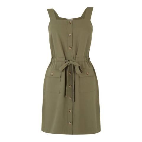 Warehouse Khaki Utility Dress