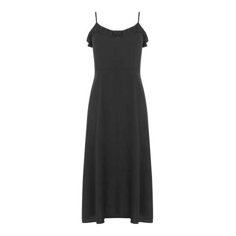 Warehouse Black Frill Detail Cami Dress