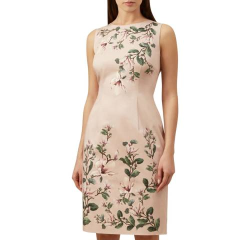 Hobbs London Pale Pink Fiona Floral Dress