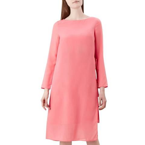 Hobbs London Pink Edie Silk Dress