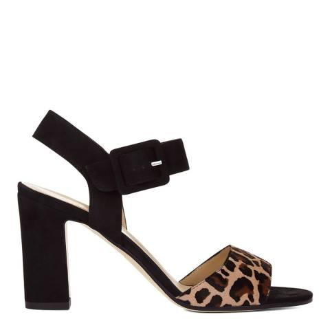 Hobbs London Leopard Rhian Sandal Heels