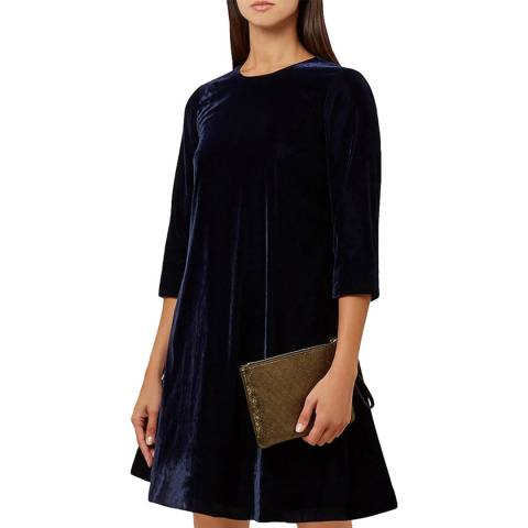 Hobbs London Navy Agnes Dress