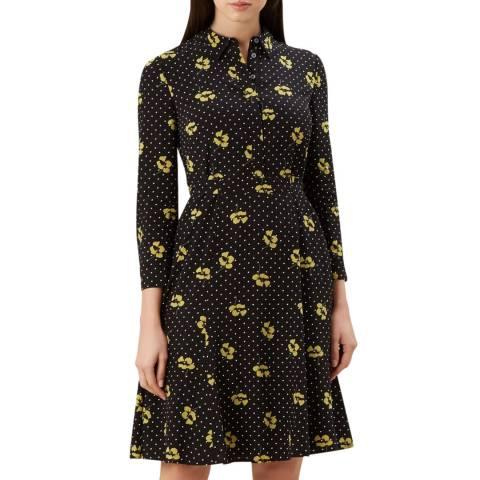 Hobbs London Black Emberly Print Dress