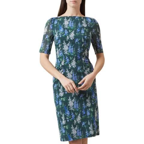 Hobbs London Green Brinley Floral Print Dress