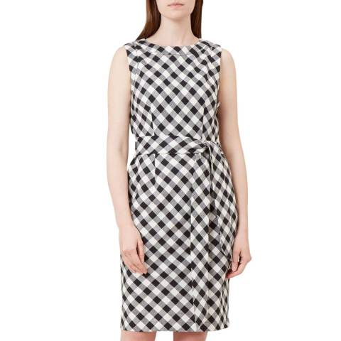 Hobbs London Black Amalfi Check Dress