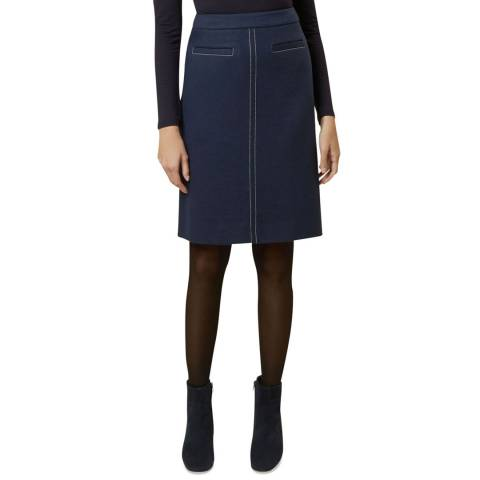 Hobbs London Navy Joella A-Line Skirt