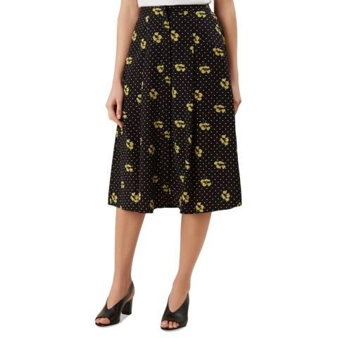 Hobbs London Black Emmy Print Skirt