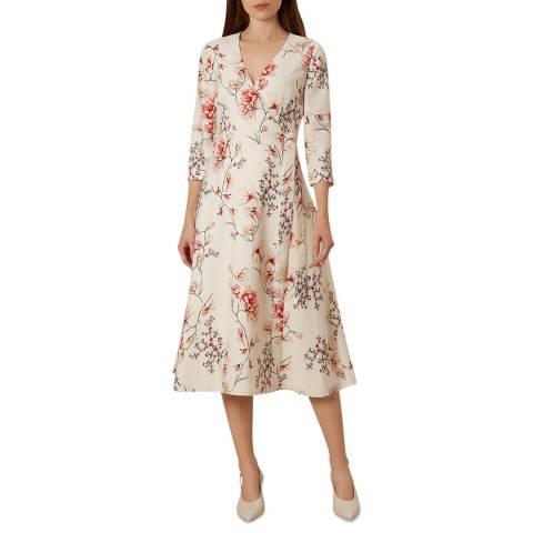 Hobbs London Cream Catherine Floral Print Dress