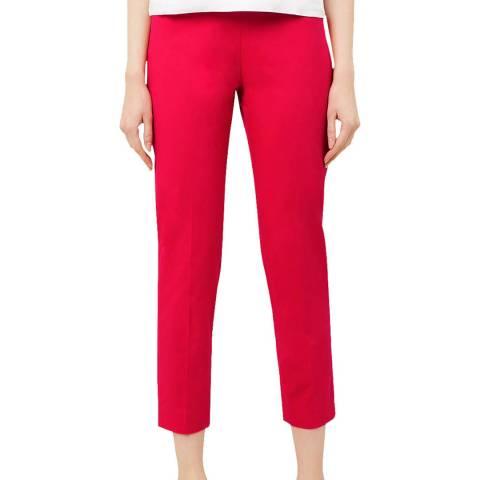 Hobbs London Pink Mallory Capri Stretch Trousers