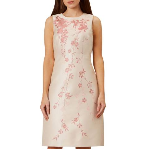 Hobbs London Beige Melody Floral Dress