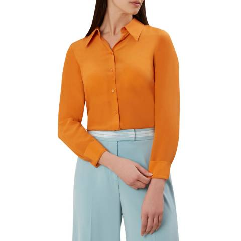 Hobbs London Orange Athena Blouse