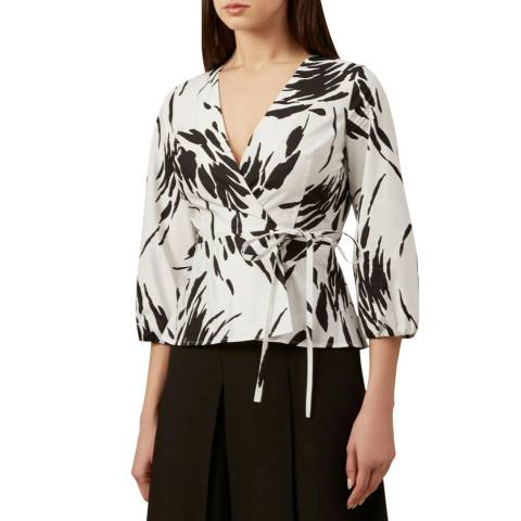 Hobbs London Ivory Amara Print Top