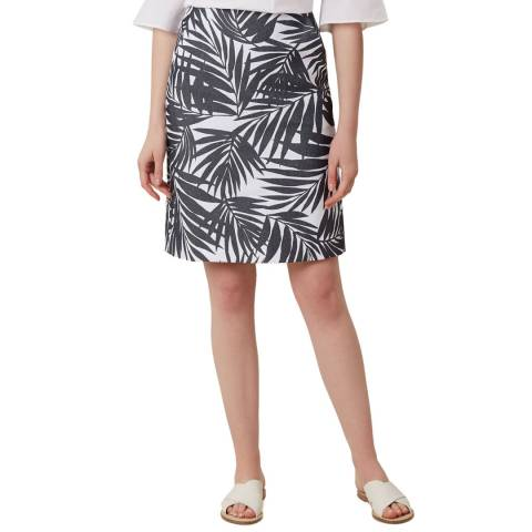 Hobbs London Navy Loretta Leaf Skirt