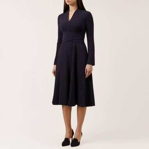 Hobbs London Navy Cecilia Dress