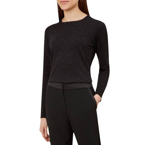 Hobbs London Black Emi Sparkle Jumper
