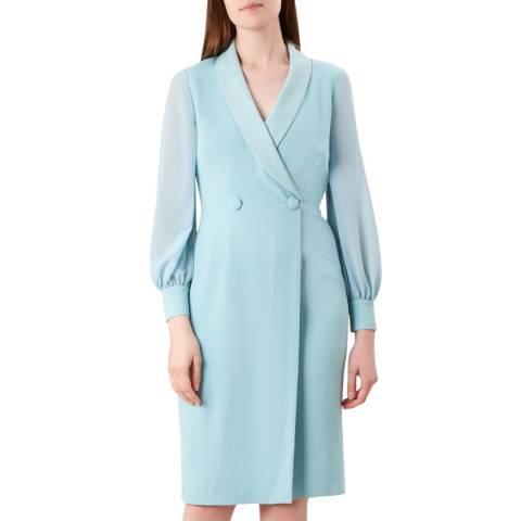 Hobbs London Pale Blue Lana Tux Dress
