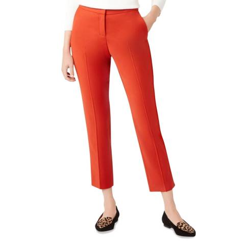 Hobbs London Orange Nadia Stretch Trousers
