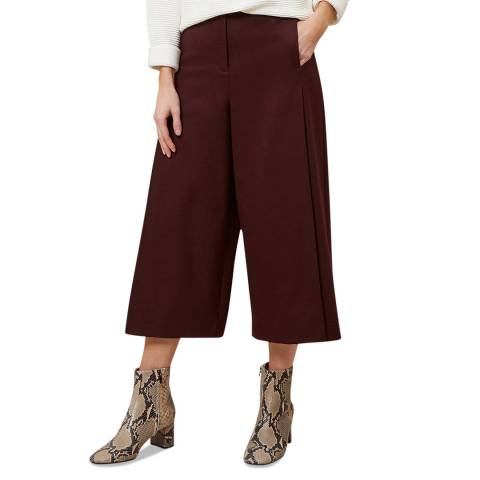 Hobbs London Burgundy Vita Trousers