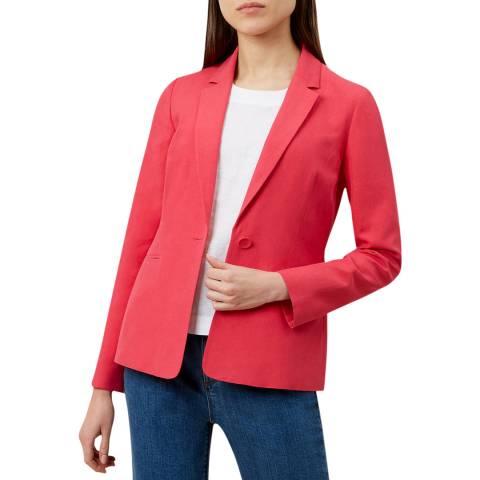 Hobbs London Pink Kernow Silk Blend Jacket