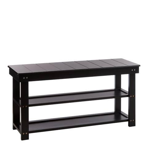 Premier Housewares Bench Shoe Rack, Black, 2 Tier