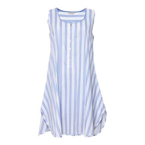 Cyberjammies Blue/White Thea Woven Stripe Swing Minishirt