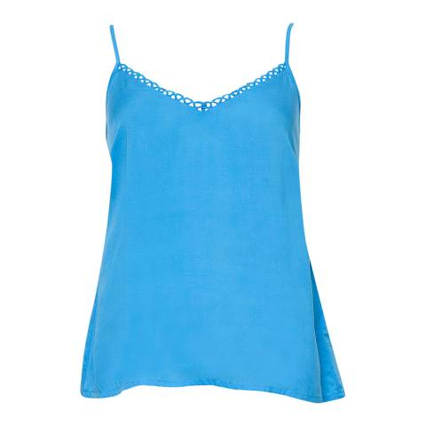 Cyberjammies Blue Milly Woven Blue Solid Modal Cami