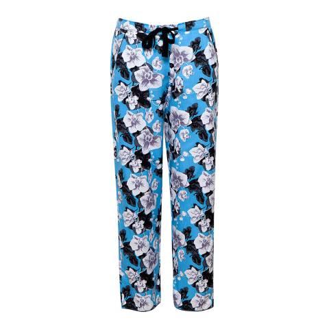 Cyberjammies Blue Multi Milly Woven Floral Print Pyjama Pant