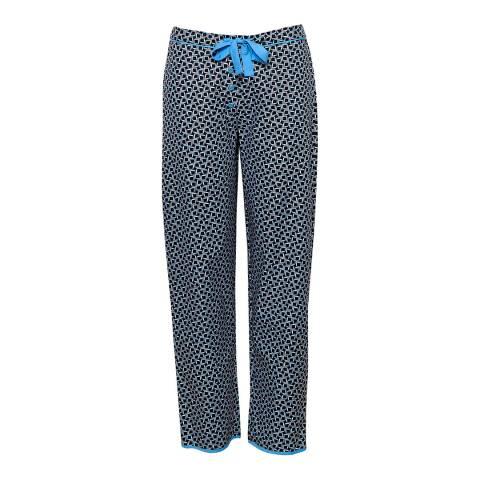 Cyberjammies Blue Multi Milly Woven Tile Print Pyjama Pant