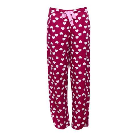 Cyberjammies Pink Susie Woven Heart Print Pyjama Pant