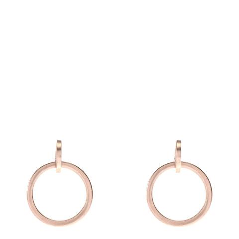 Mint Velvet Rose Gold Tone Hoop Earrings