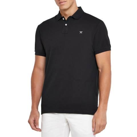 Hackett London Black Classic Logo Cotton Polo Shirt