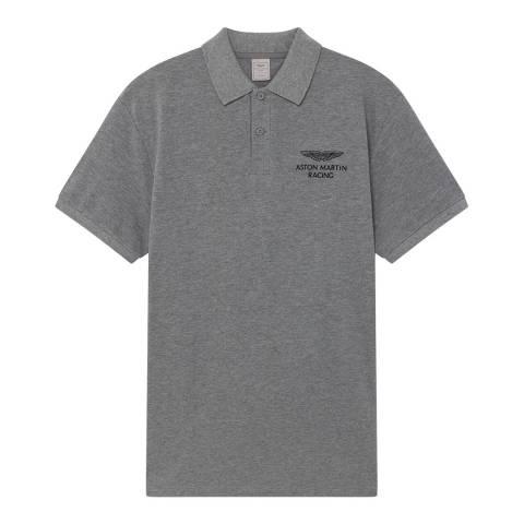 Hackett London Grey AMR Classic Cotton Polo Shirt