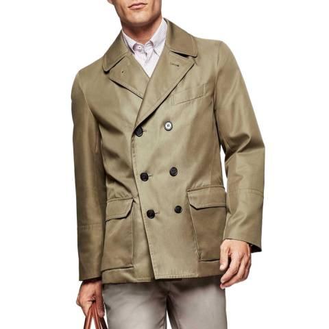 Hackett London Navy Cotton Pea Coat