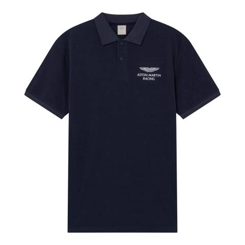 Hackett London Navy AMR Classic Cotton Polo Shirt