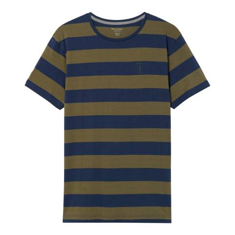 Hackett London Navy/Olive Mr Classic Cotton T-Shirt