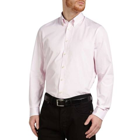 Hackett London White/Pink Classic Stripe Cotton Shirt