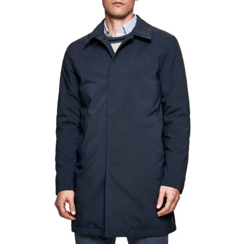 Hackett London Navy Norfolk Country Mac